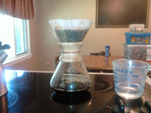 My first brew with the Chemex